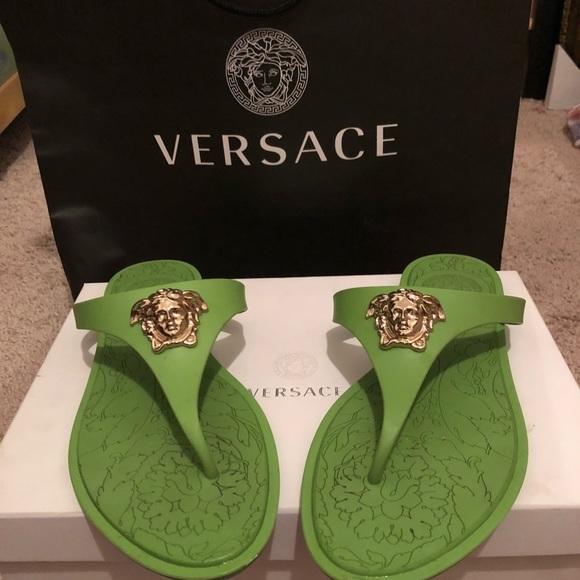 12d43946fbd2a Versace thong sandals. M 5ba8371a1b3294550f7af446